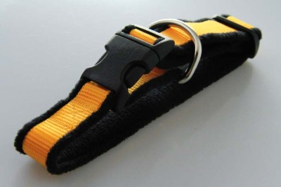 Hundehalsband | Fleece | PP-Band | Zugentlastung | 25 mm | 25-50 cm